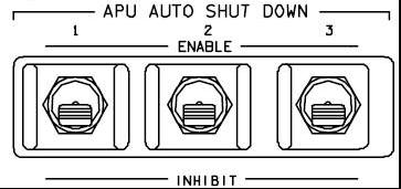 APU Auto Shutdown Switches